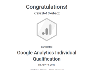 analytics individual qualification